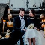 Ślub czerni ze złotem
